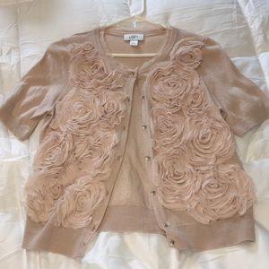 EUC Ann Taylor Loft cardigan w/crystal buttons *M